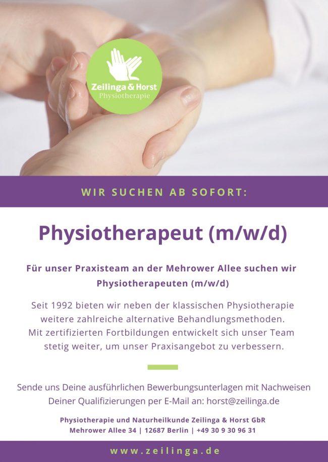 Jobanzeige_Physiotherapeut